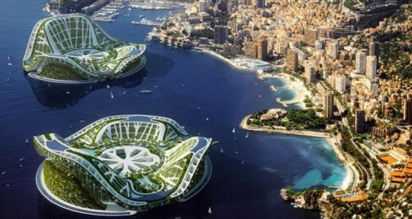 Futuristic Floating City Concept Design