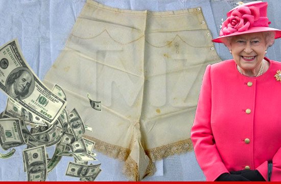 Queen Of England's Panties Sell For $18k On Ebay