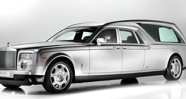Go In Style In The Back Of A Rolls-Royce Phantom hearse