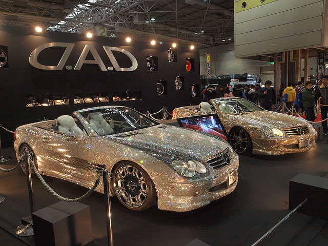 Custom Mercedes SL600 Covered With Swarovski Crystals 0