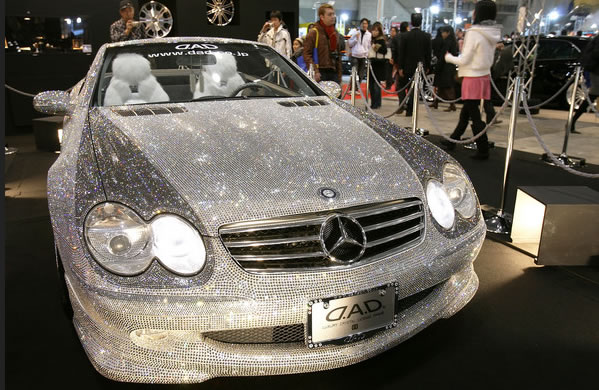 Custom Mercedes SL600 Covered With Swarovski Crystals 2