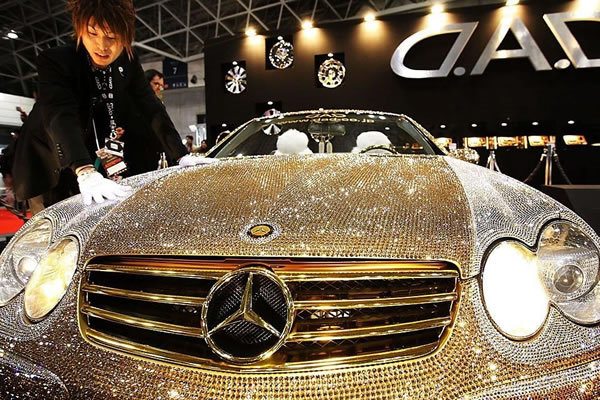 Custom Mercedes SL600 Covered With Swarovski Crystals 4