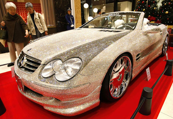 Custom Mercedes SL600 Covered With Swarovski Crystals 6
