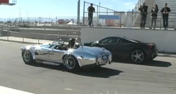 VIDEO: Ferrari 458 Italia vs 1965 Shelby Cobra In Head To Head Race