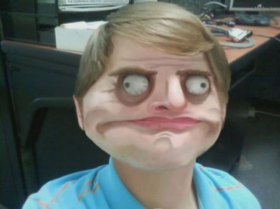 a picture of the Me Gusta Guy meme face