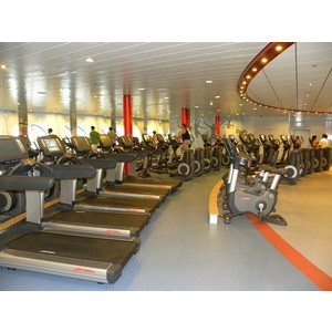 Most luxurious cruise ship in the world gym