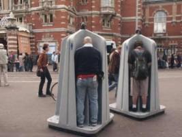 Open public toilet image