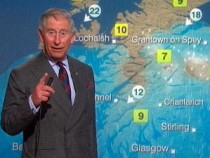 Prince Charles Reads BBC Weather Forecast For The Day