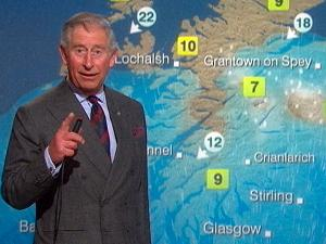 Prince Charles Becomes BBC Weather Forecaster
