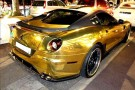 Rich Tycoon Coats His Ferrari In Gold 2