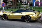 Rich Tycoon Coats His Ferrari In Gold 3