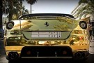 Rich Tycoon Coats His Ferrari In Gold 5