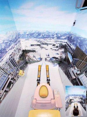 Skiers toilet image