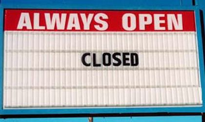 funny closed sign