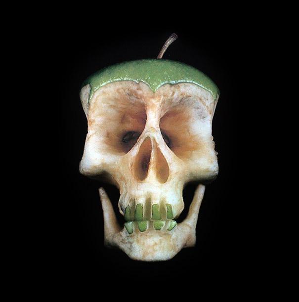 green apple skull
