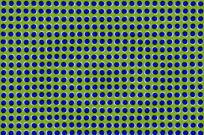 an illusion picture showing moving balls
