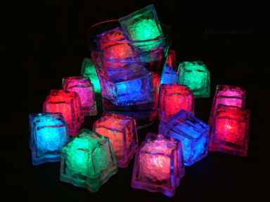 neon glow in the dark ice cubes