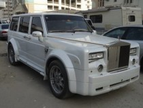 Nissan Patrol With Rolls-Royce Phantom Face – COOL OR CRAZY?