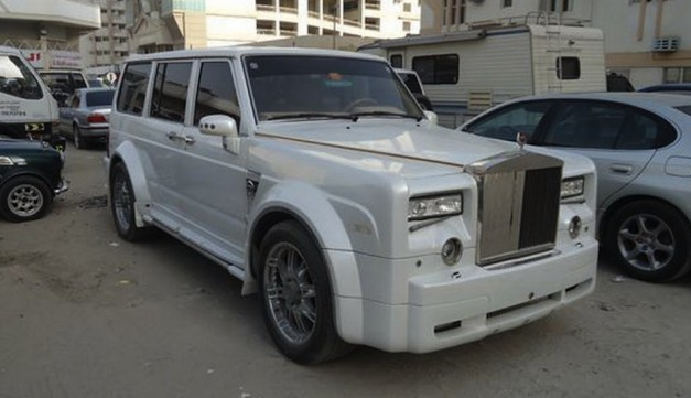 Nissan Patrol With Rolls Royce Phantom Face Cool Or Crazy