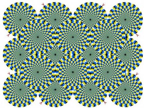rotating circles illusion