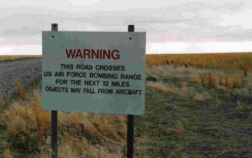 us air force warning sign
