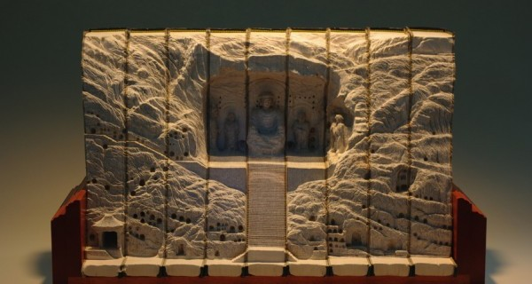 Amazing Art Landscape Sculptures Carved From Books