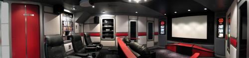 Guy Builds Star Trek Themed Home Cinema
