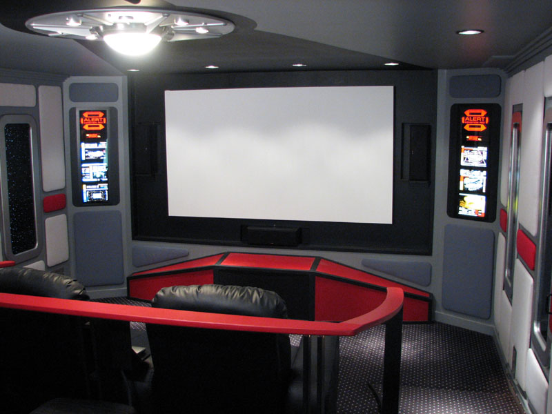 Guy Converts Basement Into Star Trek Themed Home Cinema