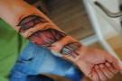 Amazing Realistic Muscle Tissue And Biomech Tattoos 2