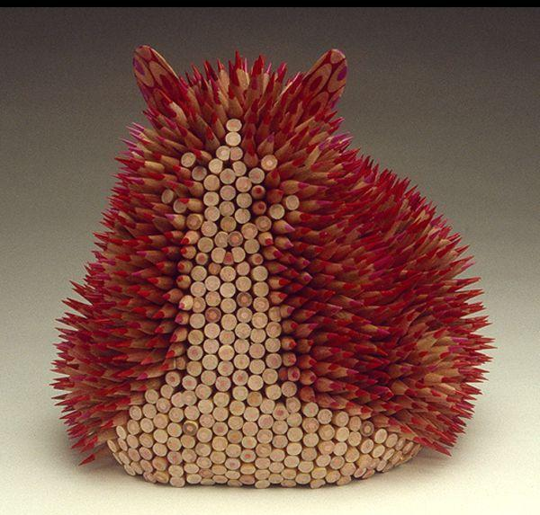 Amazing-art-sculptures-created-from-pencils-3