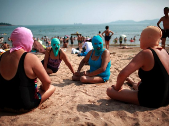 Facekini – The Chinese Sun Blocker For The Beach 1
