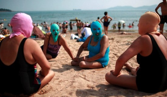 Facekini  The Chinese Sun Blocker For The Beach: COOL OR CRAZY?