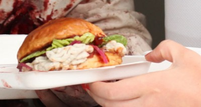 Gory Gourmet Food Truck Sells Brain Burgers And Zombie Food