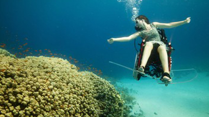 Underwater Wheelchair To Be Shown To The World At 2012 Paralympics