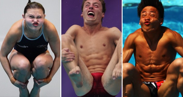 Funny Pictures Of London 2012 Olympic Divers Facial Expressions