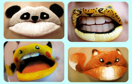 Amazing And Creative Animal Lipstick Art By Paige Thompson