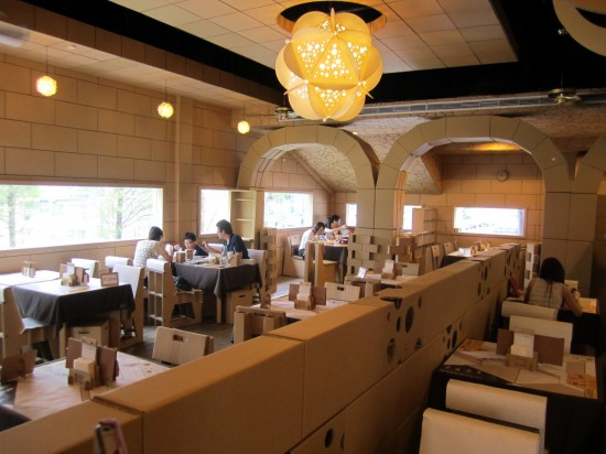 Cardboard Box Restaurant Opens In Taiwan 1