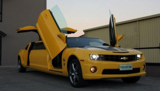 Chevrolet Camaro SS Transformers Special Edition Limo For Autobot Fans