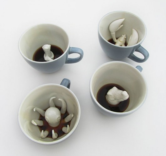 hidden creature cup set