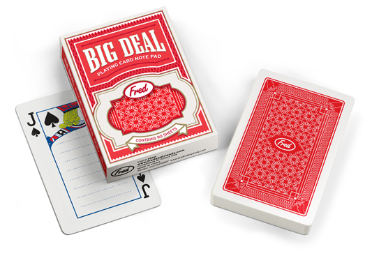 a pack of big deal notepad papers