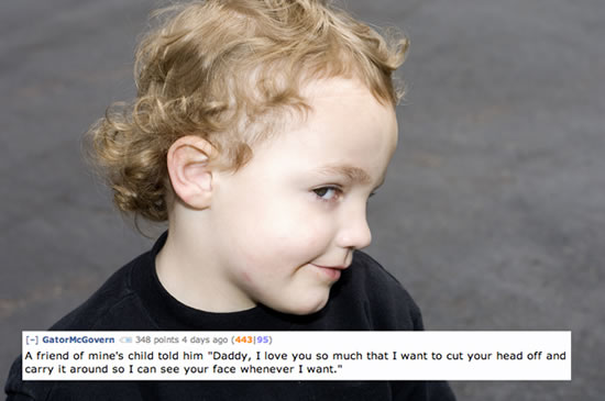 Creepy Things Kids Say To Their Parents 12