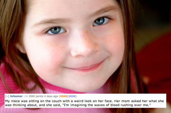 Creepy Things Kids Say To Their Parents 5