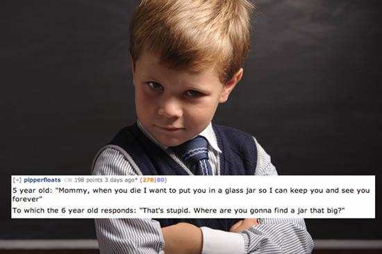 Creepy Things Kids Say To Their Parents 6