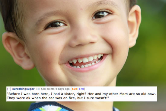 Creepy Things Kids Say To Their Parents 7
