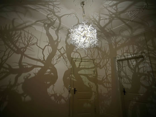 Chandelier Tree Turns a Room into a Forest
