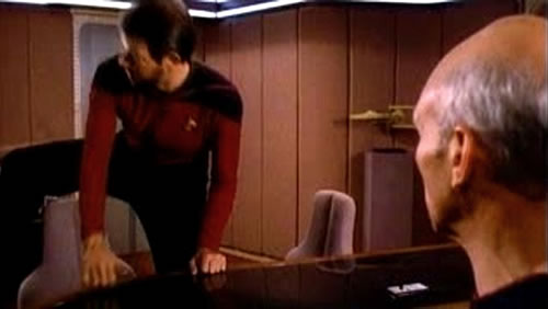 Ever Noticed Riker Sits Down Like A Crazy Person In Star Trek