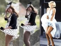 KATE MIDDLETON DOES A MARILYN MONROE