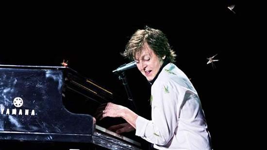Paul McCartney Swarmed By Grasshoppers
