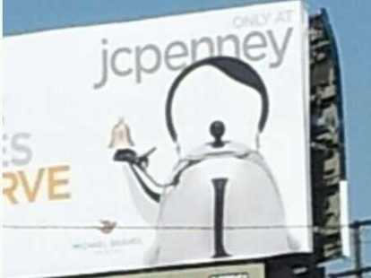 Teapot Billboard Ad Looks More Like A Caricature Of Hitler