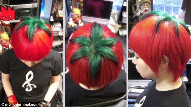 Teenagers In Japan Dye Their Hair To Look Like Ripe Tomatoes 1